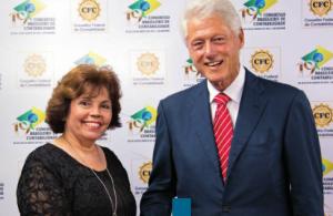 Diva Gesualdi e Bill Clinton