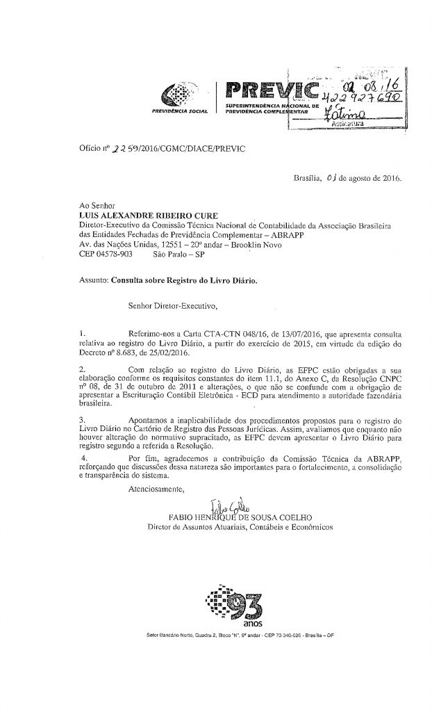 OF_nº_2259_01 08 16_CGMC_ABRAPP_Consulta sobre registro do Livro Diário_FC_422927690-page-001